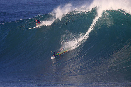 Big Wave Riding - Session Waimea Bay - North Shore d'Oahu