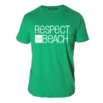 Tee-shirt Respect Your Beach - kelly green